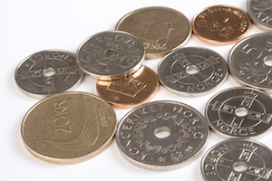 Bild på norska mynt