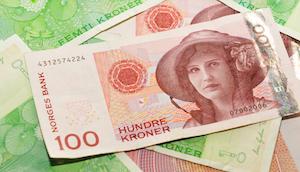 Bild på norska sedlar