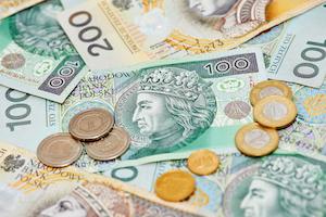 Bild på polsk zloty, sedlar och mynt