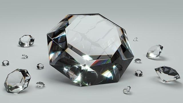 Diamanter upplagda för visning