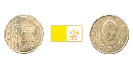50-centmynt (euro) från Vatikanstaten