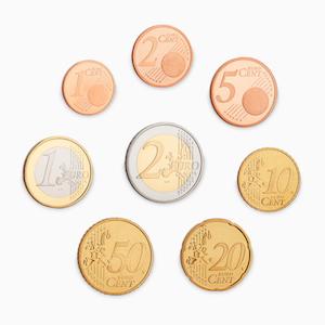 Framsidan av alla euromynt