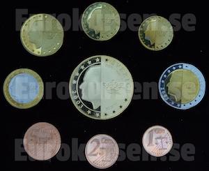 Baksida av svenska euromynt (prov)