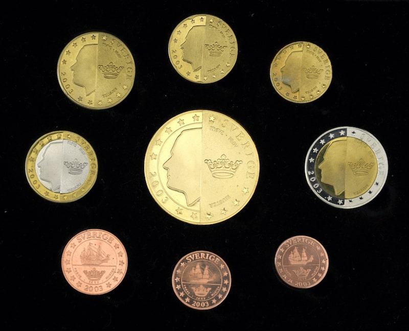 Sida 1 av de svenska euromynten (provmynt)
