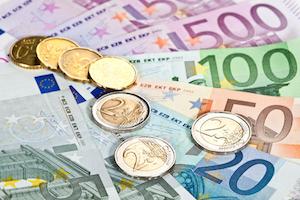 Euromynt och eurosedlar